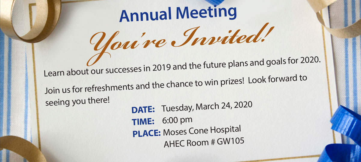 Join us for our annual meeting at 6pm on Tuesday, March 24th