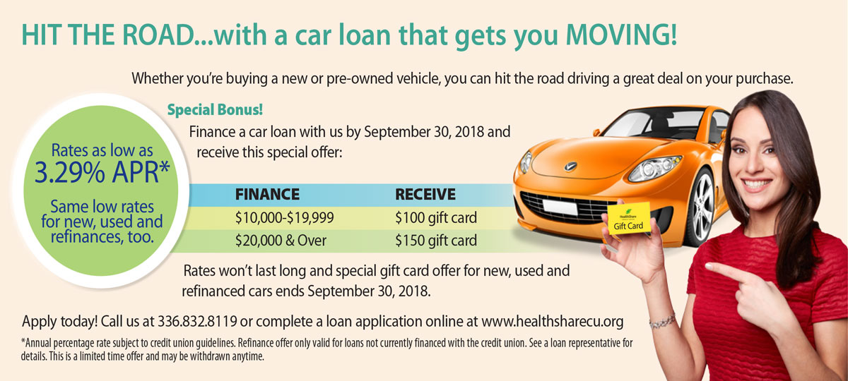 HIT THE ROAD...with a car loan that gets you MOVING!